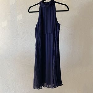 Banana Republic Navy Halter Floaty Dress 6P